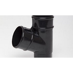 Polypipe Prr129B Round Rainwater Black 68mm Pipe Branch 112.5Degree