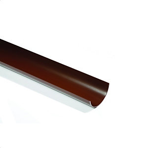 Polypipe Rr101 Rainwater Black Half Round 112mm Gutter 4M