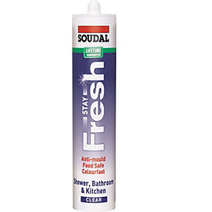 Soudal Stay Fresh Sanitary Sealant Clear