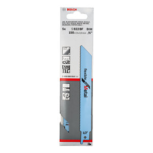 Bosch Flexible for Metal Unishank Metal Sabre Saw Blades S922BF (Pack of 5)
