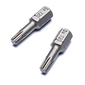 Punk TX20 x 25mm Torx Torsion Screwdriver Bits - Pack of 2