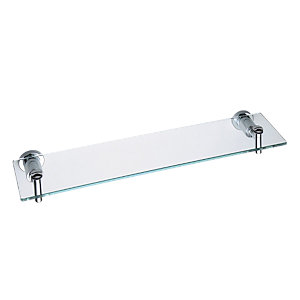 Bristan PM SHELF C Prism Glass Shelf Chrome