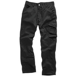 Scruffs Black Worker Trouser 36 in       W 33 in       Leg T50928