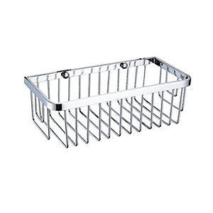 Bristan Closed Front Corner Fixed Wire Basket 70 x 270 x 190 mm Chrome COMPBASK03C
