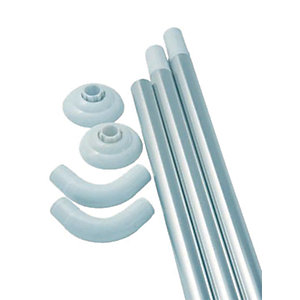 iflo Shower Curtain Modular Rail Anodised