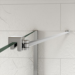Kudos Ultimate2 Shower Enclosure Panel Angled Glass To Wall Stabiliser Including Rail 300 mm 10WPGW30
