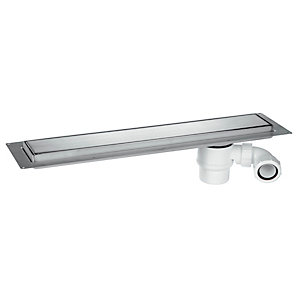 McAlpine 600mm Brushed Stainless Steel Shower Channel