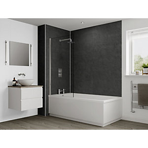 Multipanel Classic Shower Panel 2400 x 1200mm Hydrolock Riven Slate