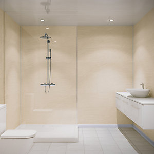 Multipanel Classic Shower Panel 2400 x 1200mm Hydrolock Sahara