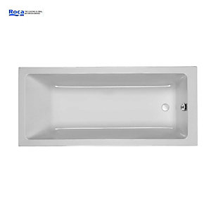 Roca The Gap Straight Bath 1700 x 750 mm No Tap Hole 024718000