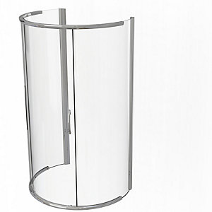 Kudos Infinite Curved Peninsula Sliding Door Shower Enclosure 1200 x 910 mm 4PENS129S