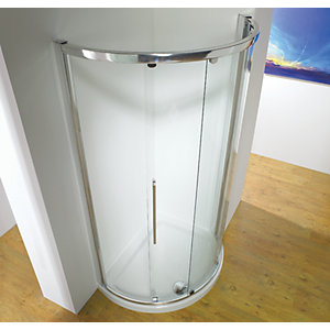 Kudos Original Curved Offset Quadrant Sliding Door Shower Enclosure 1000 x 1000 mm 3SCD100S