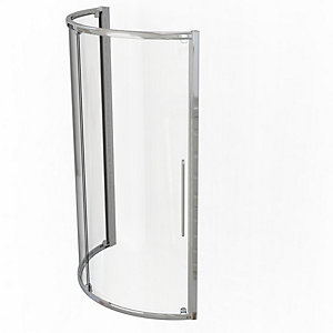 Kudos Original Curved Offset Quadrant Sliding Door Shower Enclosure 1000 x 810 mm 3SCDOS108S