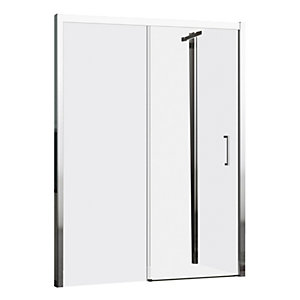 Novellini Kuadra Sliding Door Shower Enclosure 1140 - 1200 mm (Right Hand) KUAD2P138AD-1K