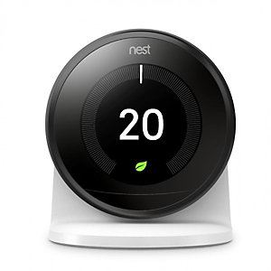 Nest Black 3RD Generation Smart Learning Thermostat and 3RD Generation Stand