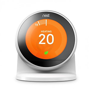 Nest Smart Learning Thermostat - Stainless Steel and Stand - 3RD Generation