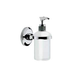 Bristan Solo Wall Mounted Frosted Glass Soap Dispenser Chrome SO-SOAP-C