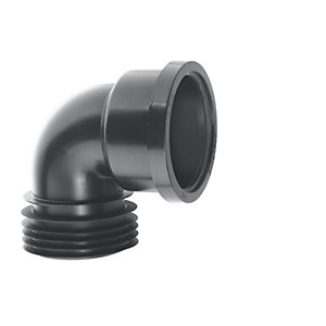 McAlpine 110mm 90 Degree Black Drain Connector DC90-BL