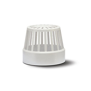 Polypipe Soil Vent Terminal White 110 mm SV42W