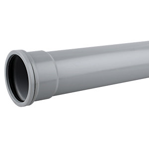 Wavin OsmaSoil Single Socket Pipe Grey 4m x 160mm 6S044G