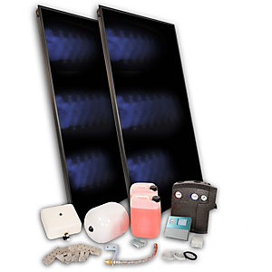 SOLFEX 2x Fk250P On Roof Solar Thermal Prestige Pack Slate