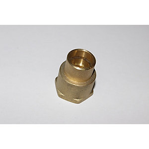 "PlumbRight Solder Ring Fitting 15 mm x 1/2"" Straight Female Connector"