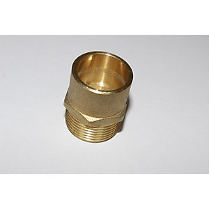 "PlumbRight Solder Ring Fitting 15 mm x 1/2"" Straight Male Connector"
