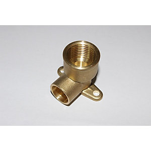 "PlumbRight Solder Ring Fitting 15 mm x 1/2"" Wall Plate Elbow"