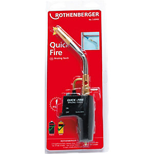 Rothenberger Quickfire Piezo Ignition Brazing Soldering Torch 35645