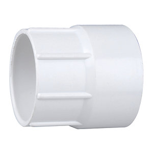 Wavin Osmaweld Waste System White Female Iron Connector 40 mm 5Z127