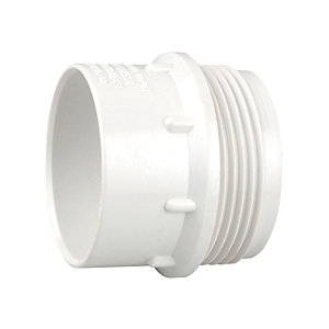 Wavin Osmaweld Waste System White Male Iron Connector 40 mm 5Z128