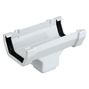 Osma Squareline 4T806W Guttering And Rainwater Gutter White Running Outlet