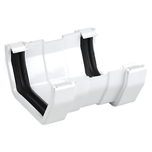 Osma Squareline 4T809 Guttering And Rainwater White Gutter Union