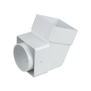 Osma Squareline 4T825 Guttering And Rainwater White Rainwater Offset Bend-Socket