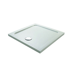 Mira Flight Low Profile Square Shower Tray 900 x 900 mm (2 Upstands) 1.1697.323.WH