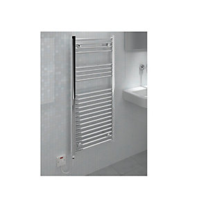 Straight Chrome Towel Rail 1200 x 400mm