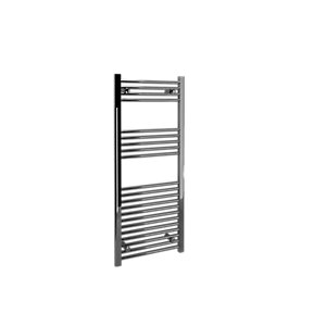 Straight Chrome Towel Rail 1200 x 500mm