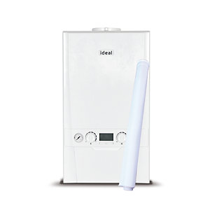 Ideal Logic Plus 15kW Gas System Boiler ERP & Horizontal Flue Pack