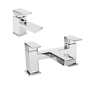 Bristan Colbalt Basin Mixer & Bath Filler & Waste