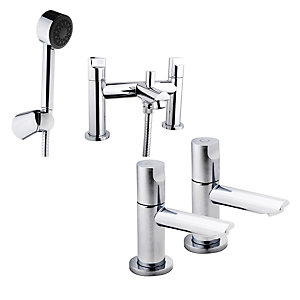 iflo Spa Basin Pillars and Bath Shower Mixer Pack