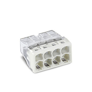 Wago 2273-208 8 Way Compact Push Wire Connector - Light Grey - Box of 50
