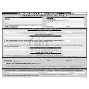 Regin REGP55 Warning Notice Report Pad