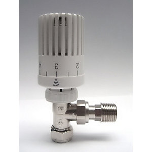 iflo Contract 15mm Angled TRV White Head