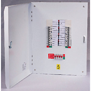 Lewden E-TPN08LW 8 Way 125A Tp+n Type B Distribution Board Without Incomer
