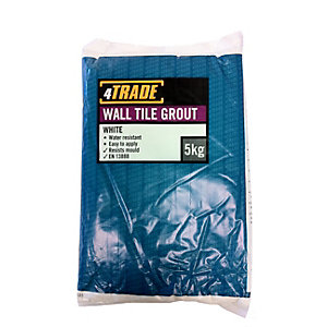 4Trade 642409 Wall Tile Grout White 5kg
