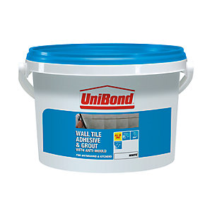 UniBond All Purpose Wall Tile Adhesive & Grout White 5L