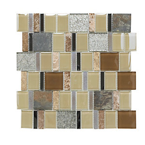 Picasso Beige 732200 Mosaic Honed And Polished Marble Tile 300mmx300mm