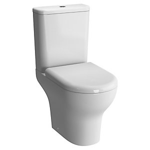Vitra Zentrum Close Coupled Back to Wall White Toilet Pan (Closed Back) 5780L003-7200