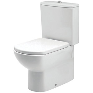 iflo Capra Close Coupled Back to Wall Bathroom WC Toilet Cistern