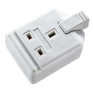 Masterplug ELS13W-01 1 Gang White Heavy Duty Trailing Socket with Indicator